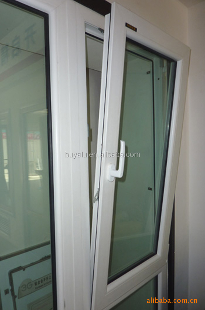 Aluminium inward tilt-turn window in white powder coating color with thermal break