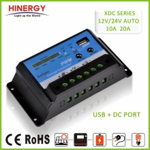 Hinergy XDC Series USB 5V DC 12V output port 12V 24V 10A solar charge controller