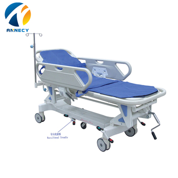 AC-ST002 medical devices equipment manual type hospital stretcher troley price