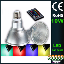 no-dimmable RGB spotlight 10w 3 years warranty led lights par30,led par30 spotlight