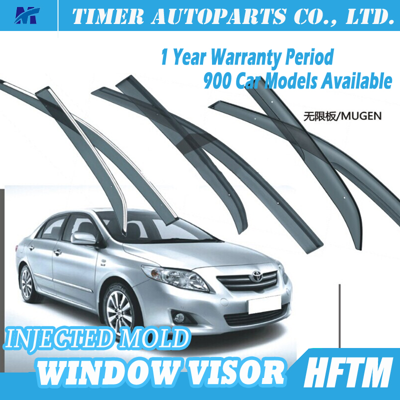 car accessories for toyota corolla stainless steel window visor for toyota 2007 corolla