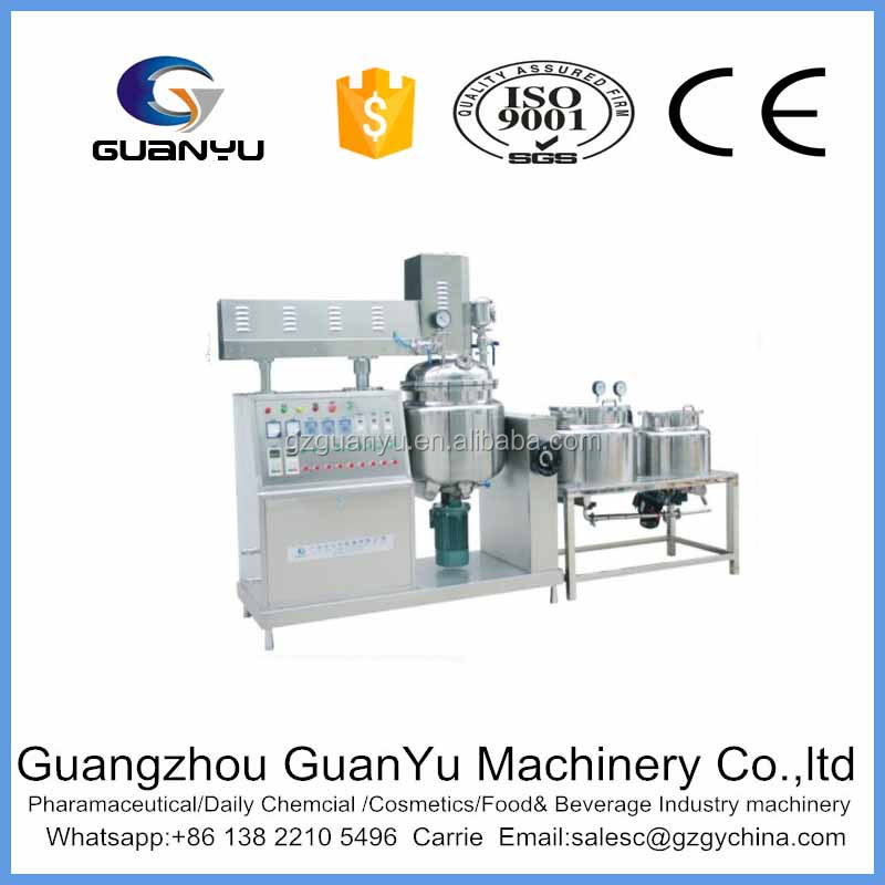 Vacuum emulsifying mixer used for paint making industry for homogenizing and blending