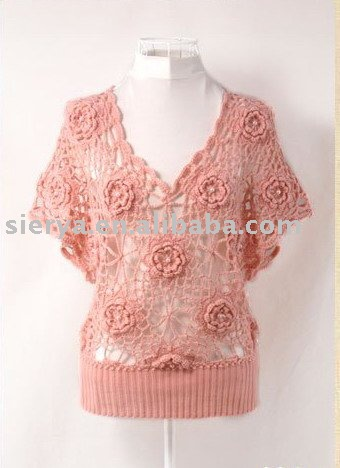 Ladies verano mano crochet sweater