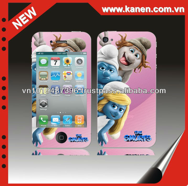 for iphone 4s cell phone skin sticker