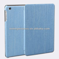 for ipad mini wood leather case with stand