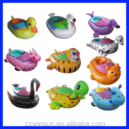 inflatable water pool toys, Vivid animal style used bumper boats for sale,kid electric boat
