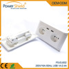 Europe Dual2 x usb steckdose kuche 250V 16A with CE TUV approval