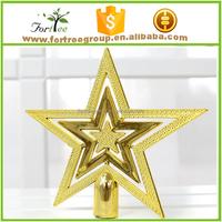gold metal christmas tree star