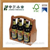 High quality durable elegant with bottle opener wooden beer carrier holder