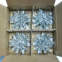 Silver Silk Balls Scattered Flowers/Fancy Ribbon Bows for Celebrative Wedding/christmas