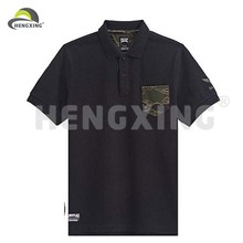 Black Camo Two Color Plain Cotton Polo Shirts
