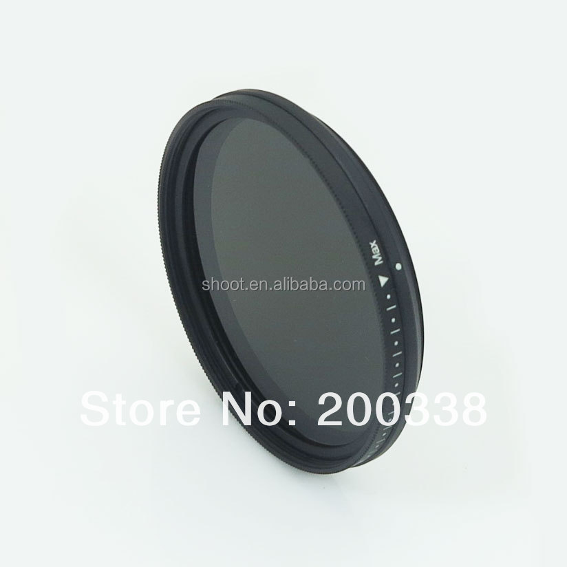 digital camera spare parts camera filter lens 52mm ND filter Variable Adjustable ND2 to ND400