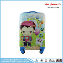 shining cartoon fancy luggage,Colorful bright color travel luggage