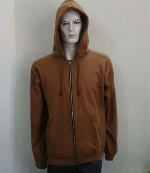 Men's hoody fleece jacket with EMB and print