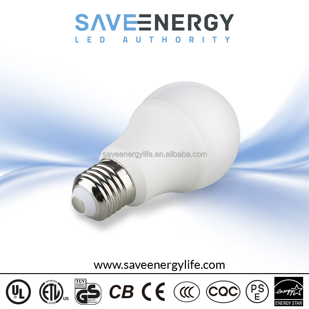 Battery Powered Light Bulb E27 Bulb A60 9w, 90LM/W bulb lamp, dimmable led bulb
