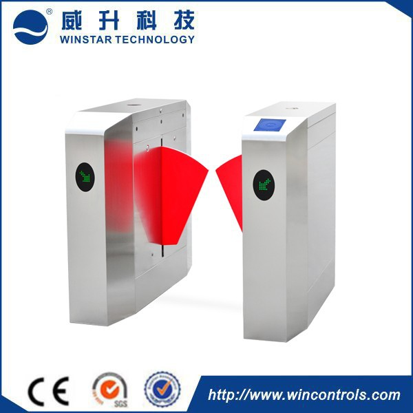 RFID interface CE certificate waist high bidirectional full automatic fast speed access control flap barrier gate
