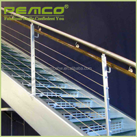 2016 nice quality 304 316 indoor & outdoor polished finish 304 316 stainless steel pipe removable stair handrail