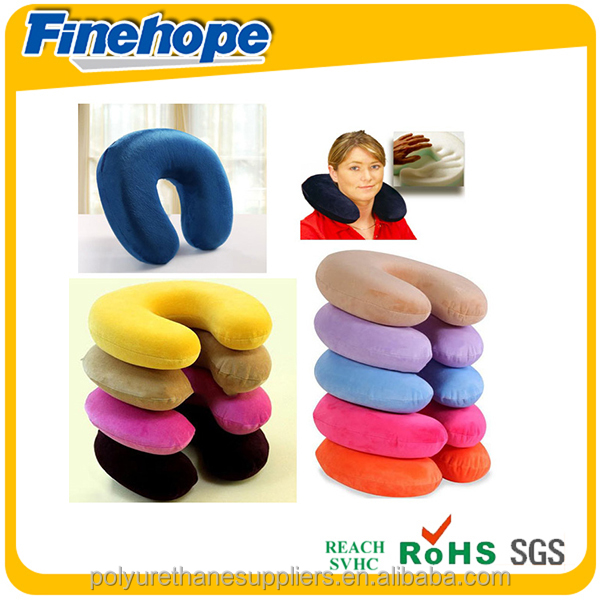 Customize Polyurethane foam OEM car seat travel airplanes neck roll pillow