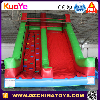 2017 Inflatable Rock Climbing Wall Slide for Sports Game