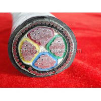 low voltage aluminum conductor steel wire armoured electric xlpe cable