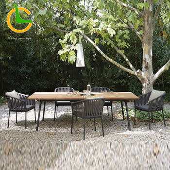 All weather outdoor woven rope chair for patio garden