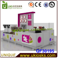 Made in China 12*12ft juice bar kiosk,juice bar equipment,frozen yogurt kiosk