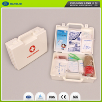 KLIDI Hot Selling Good Price Full Set Disposable Sport First Aid Kit Plastic Case With CE Certification