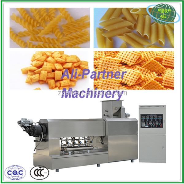 High efficiency full automation pasta macaroni production line by old food machine manufactory in Zhengzhou
