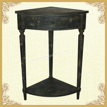 Black shabby chic wooden console table