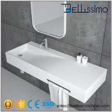 Best Price Man Made Stone Basin, Rectangle Resin Wall-hung SinkBS-8404