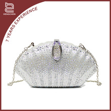 Silver Shell CRYSTAL Evening Bags for women