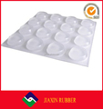 Self-adhesive bumpers silicone furniture bumper pads protection for wall and wooden floor clear silicone bumper pads