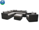 Sectional Cheap Prices Home Balcony Rattan Outdoor Corner Sofa Set Garden Sofa Furniture