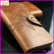 New Fashion Casual High Quality Genuine Leather Men Long Billfold Wallets Vintage Top Brand Male Purse Hasp