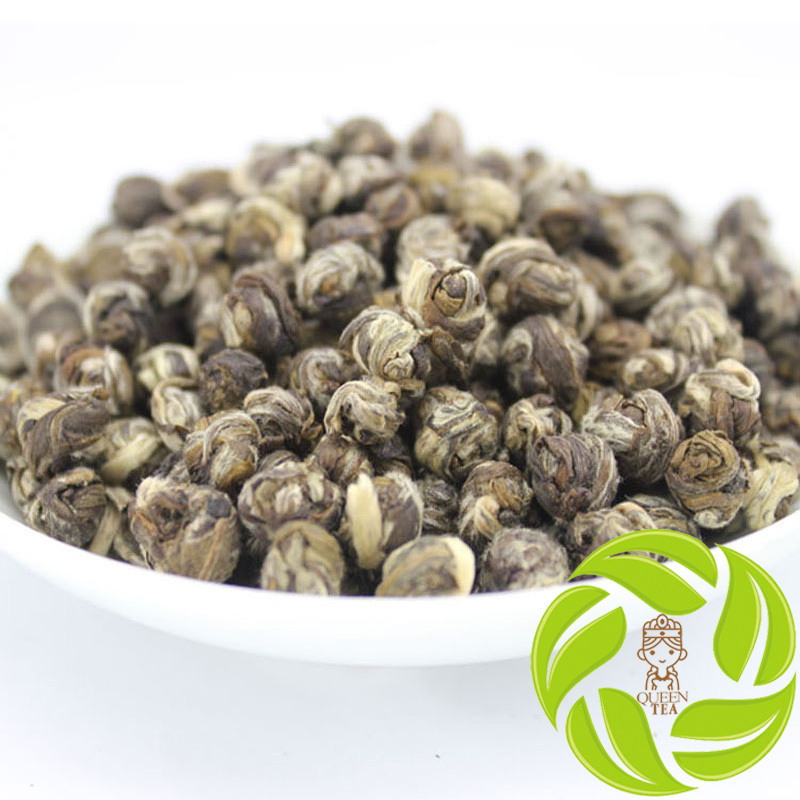 Super jasmine flower tea scented tea long zhu jasmine dragon pearl green tea