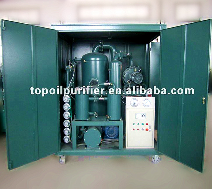 P.L.C Double Stage Vacuum Oil Purifier/Mobile Transformer Oil Treatment Plant/Waste Oil Recovery System