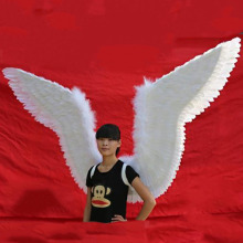 Adult Size Costume Big White Feather Angel Wings