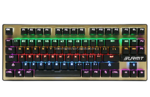 Custom Small 87 Keys gaming keyboard green led or red , pc gamer keyboard