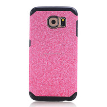 Luxury ultra thin Glitter Powder bling soft TPU Phone Case For SAMSUNG GALAXY S6 edge