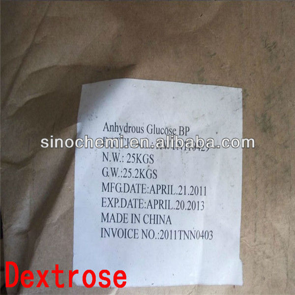 China ISO9001 2008 manufacturer price food grade dextrose anhydrous