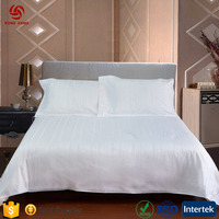 Wholesale luxury hotel bedding set 100% cotton,5 star hotel bed sheet set white