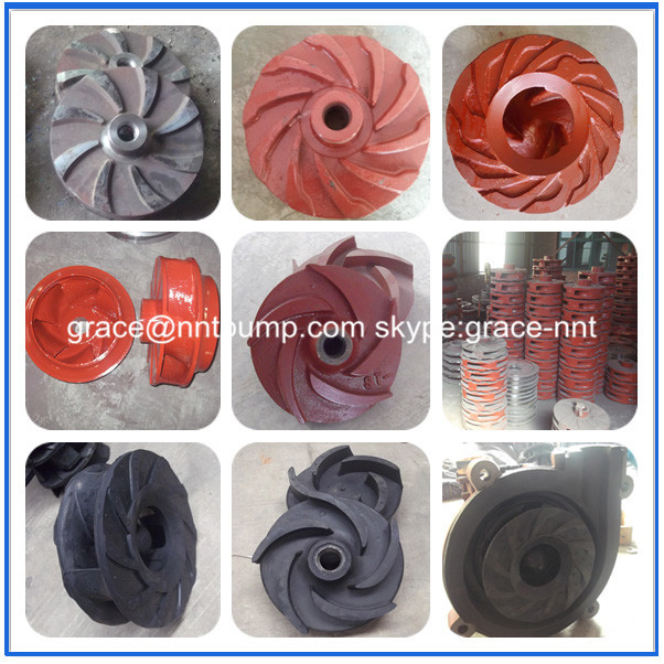 Anti-corrosion Rubber impeller for centrifugal pump slurry pump