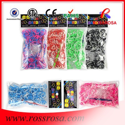 Yiwu manufacture and wholesale factory direct 600 pcs/bag high quality in loom rubber bands