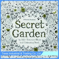 English Secret Garden Decompression Hand-painted Coloring Book