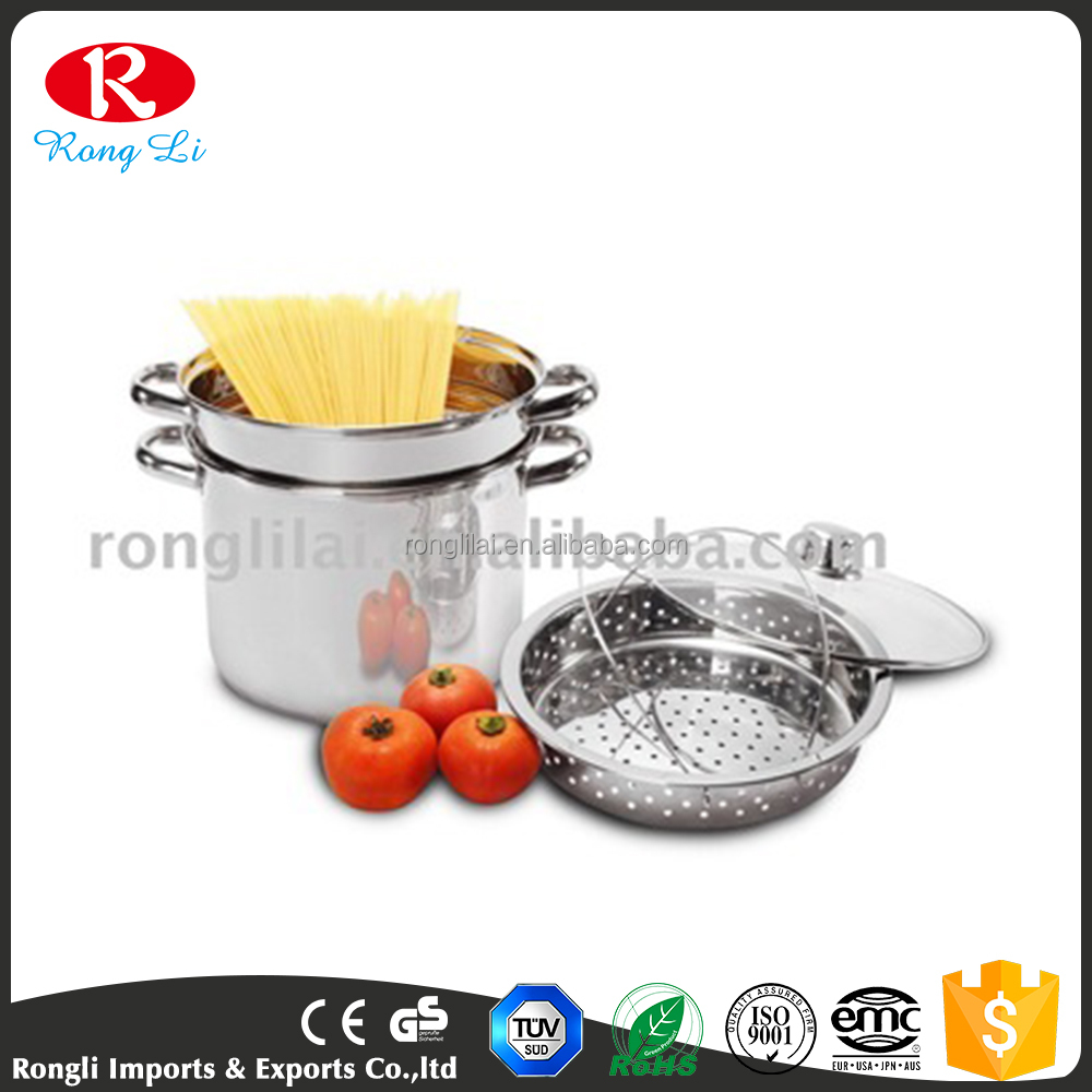 China supplier factory promotion price stainless steel Pasta Pot Cookware/Spaghetti Pot