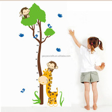 Cute Jungle Animals Tree Monkey Wall Sticker For Kids Rooms Child Diy Stickers Wall Art Decals Home Decoration