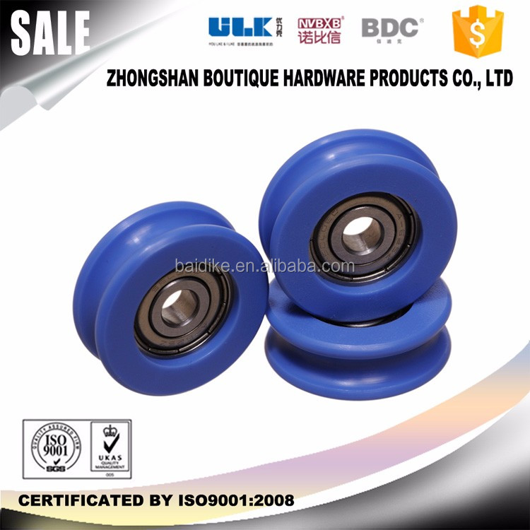 u shape guide nylon pulley with bearing for sliding door low friction with plastic pulley bearing BDC-WU027