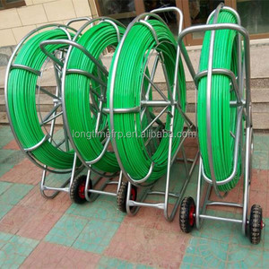 14mm*300m Fiberglass Detectable Duct Rodders, Underground Cable push pull rods