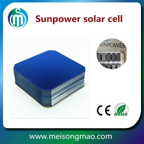 High efficiency sunpower solar cell A grade no colors difference monocrystalline cheap price solar cells in stock