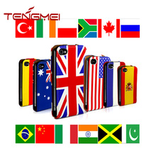 printing country flag for iphone case PU leather mobile cover